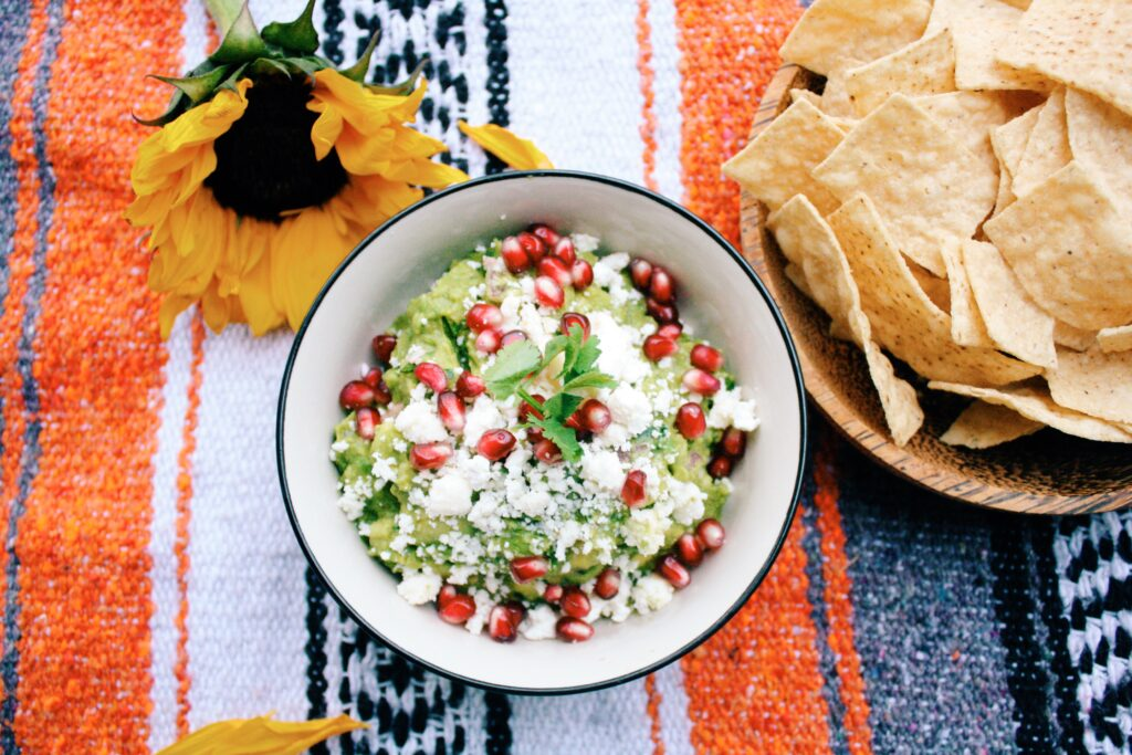 The best guacamole recipe with pomegranate and feta