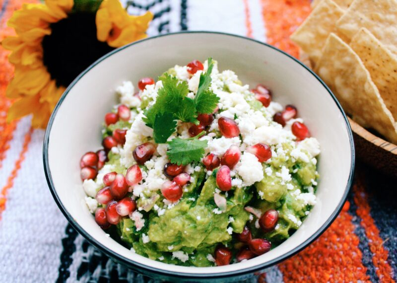 The best Guacamole recipe with feta and pomegranate
