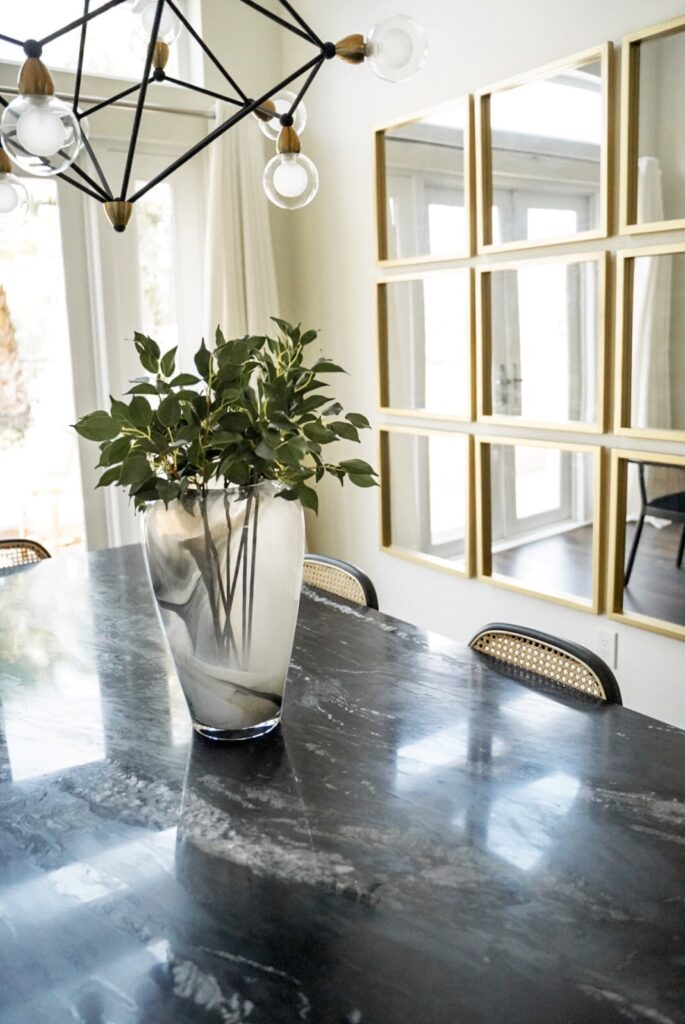 Black Marble Dining Room